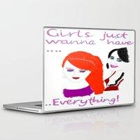girls Laptop & iPad Skins featuring Girls by jt7art&design