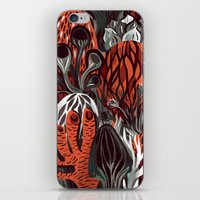 mushrooms iPhone & iPod Skins featuring Mushrooms by pam wishbow