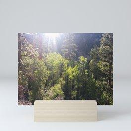 Vibrant Green Trees   Bright Sunny Day   Blue Sky   Lush Landscape   Nature Mini Art Print