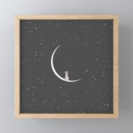 Rabbit Rabbit New Moon Framed Mini Art Print