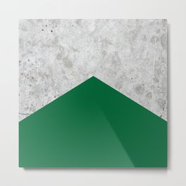 Concrete Arrow Forest Green #326 Metal Print