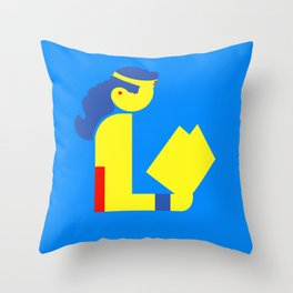 Wonder Lady Reading Throw Pillow