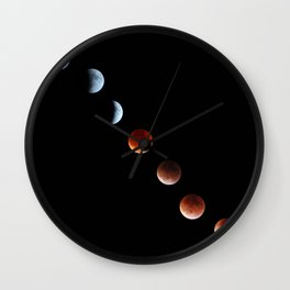 Super Moon Eclipse 2015 Wall Clock