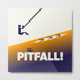 Pitfall Metal Print
