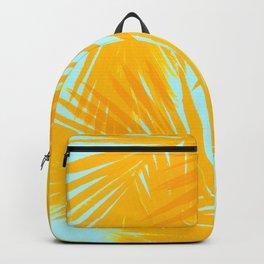 Palms Tangerine & Blue Backpack