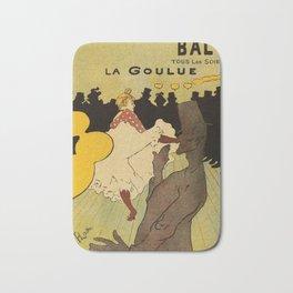 Paris nightlife 1891 Toulouse Lautrec Bath Mat