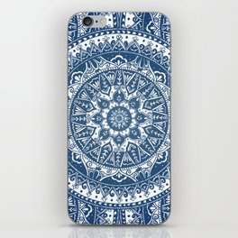 Blue Mandala Pattern iPhone Skin