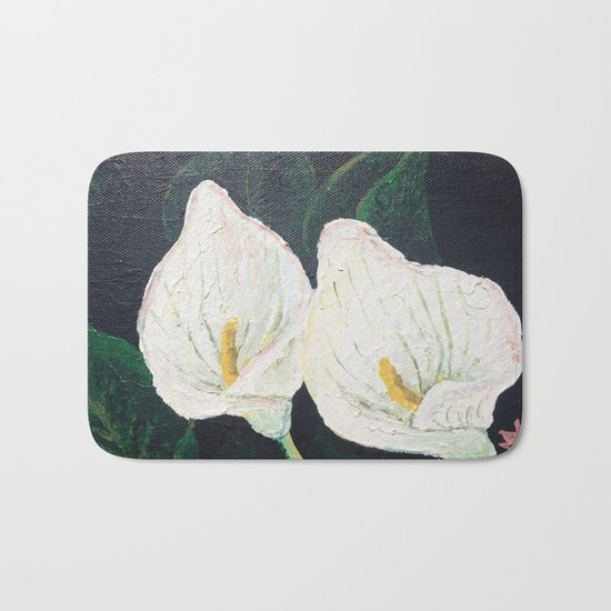 Calla Lily ... Winter Lilly Lily Lilies Lillies White Bath Mat
