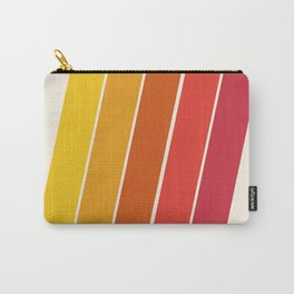 Cool Beans - 70's retro throwback art stripes motif decor hipster Carry-All Pouch
