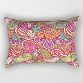 Vivid Whimsical Pastel Retro Wave Print Pattern Rectangular Pillow