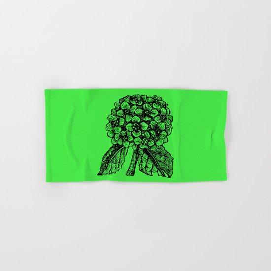 Green Hydrangea Hand & Bath Towel