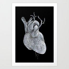 driftwood heart Art Print