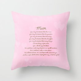 Mum Throw Pillow