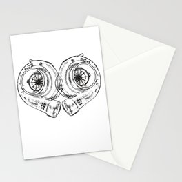 Turbocharger Heart Boost Ladedruck Tuning Turbocharge Stationery Cards