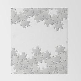 Puzzle white Throw Blanket