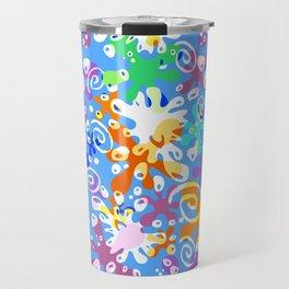 Colorful Abstract Summer Design Travel Mug