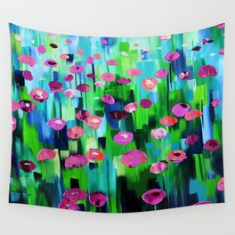 Field of Flowers - Colorful abstract painting Wall Tapestry