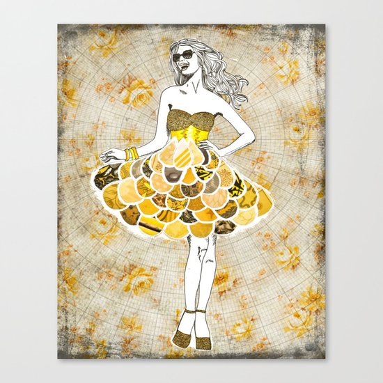 The Yellow Dress Canvas Print