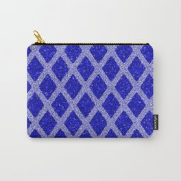 blue rhombus Carry-All Pouch