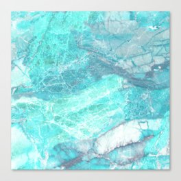 Marble Turquoise Blue Agate Canvas Print