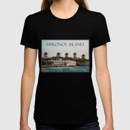 Picturesque Windmills on Mykonos Island Greece T-shirt