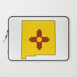 New Mexico Map with State Flag Laptop Sleeve