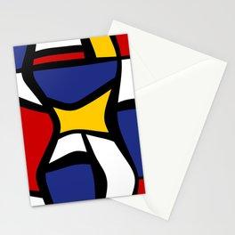 Curvy Mondrian Stationery Cards