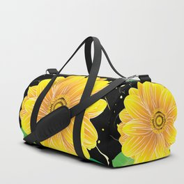 Helianthus Midnight - The Color of Vitality, Intelligence, and Happiness Duffle Bag