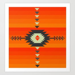 Southwestern in orange and red Art Print