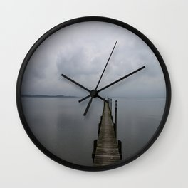 Lake Chiemsee In A Mist Wall Clock