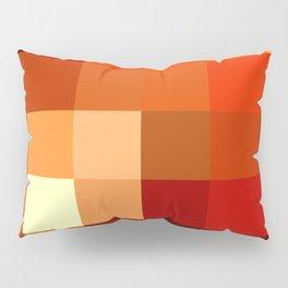BLOCKS - RED TONES - 1 Pillow Sham