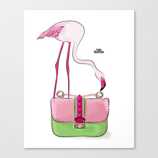 Flamingo bag Canvas Print