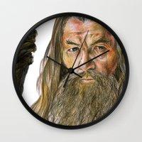 gandalf Wall Clocks featuring Gandalf by Labani
