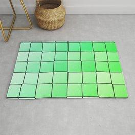 Green squares gradient pattern Rug