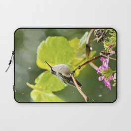Hummingbird Shower Laptop Sleeve