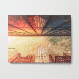 New York City Chrysler Building Up Up and Away Metal Print
