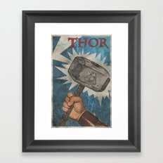 By the Hammer of Thor Framed Art Print