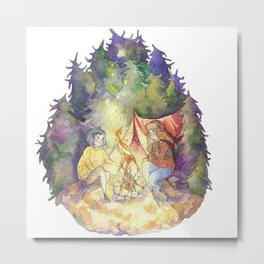 Sisters in forest Metal Print