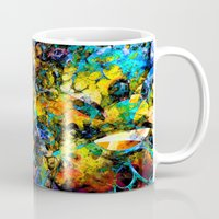 underwater Mugs featuring Underwater by Klara Acel