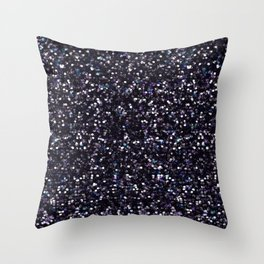 Iokasti Blue-Black Swarovski Throw Pillow