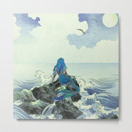 Beauty Mermaid Metal Print