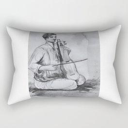 Indian Musician Rectangular Pillow