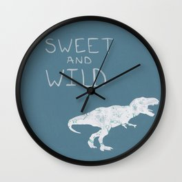 Sweet and Wild Dinosaur Wall Clock