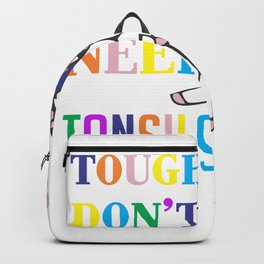 Cute Tonsil Removal Surgery Unicorn Girl Recovery Backpack