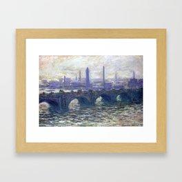 Monet Bridge Framed Art Print