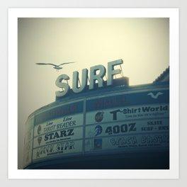 Ocean City Surf Mall Art Print