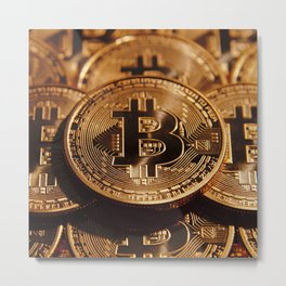 "Bitcoin Pulling Image...""The Secret"" If you see again and again, you can get it. Metal Print"
