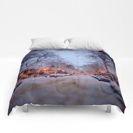 Winter scene Comforters