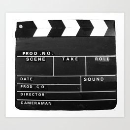 Film Movie Video production Clapper board Art Print