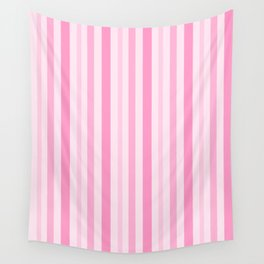 Pink Stripes Wall Tapestry